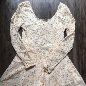 Free People Floral Imprint Longsleeve Dress